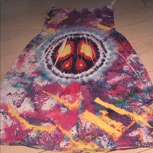 Peace Sign Tye Dye Dress